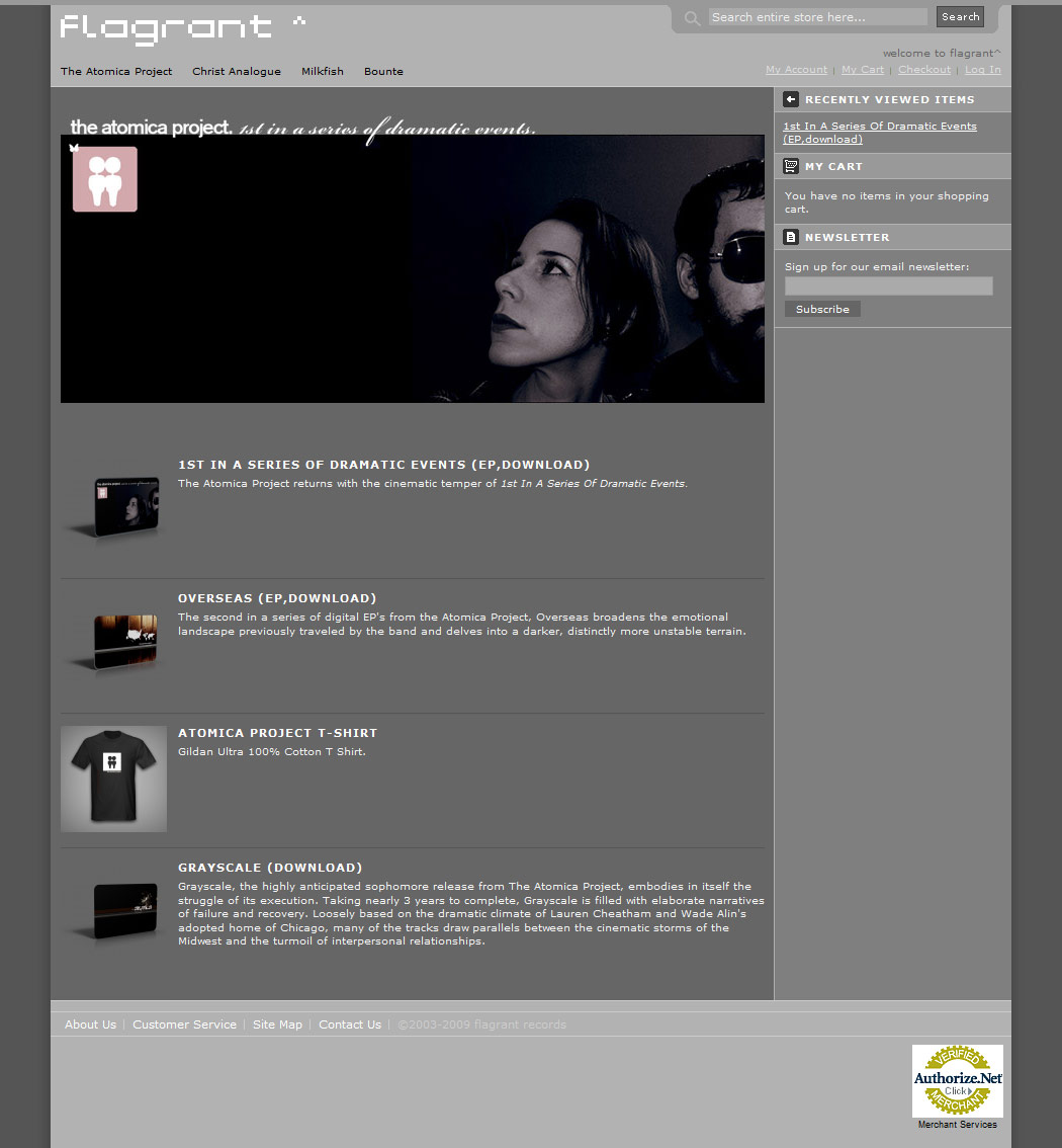 flagrantrecords.com - home page