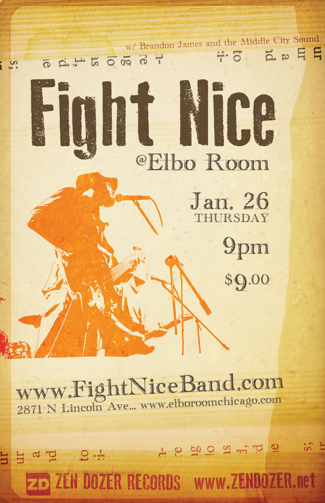 Fight Nice Elbo Room poster