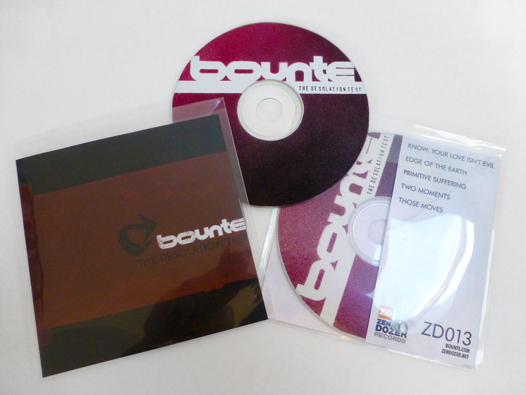 Bounte: The Desolation Test CD