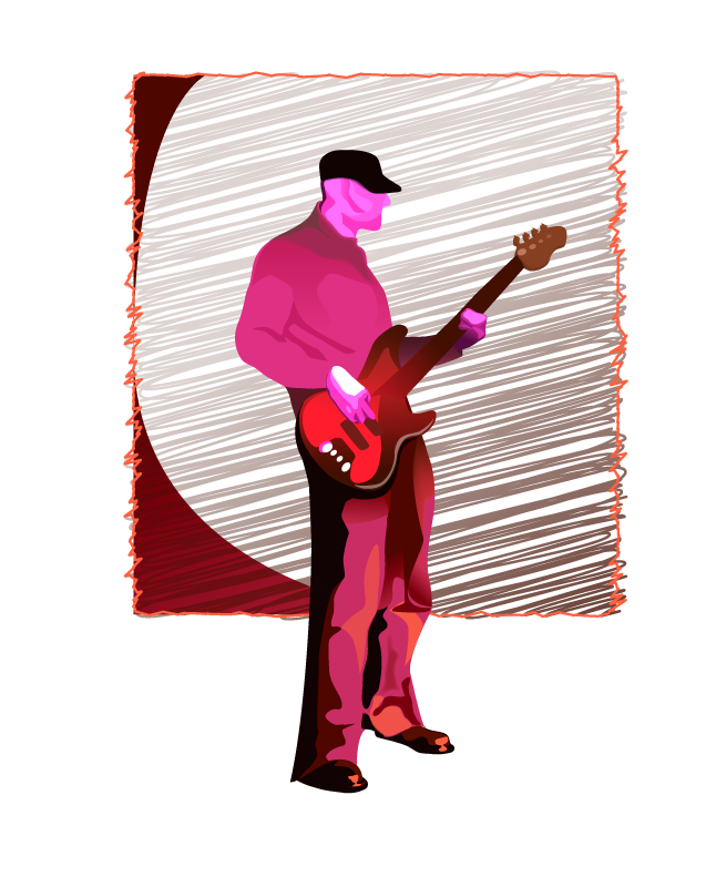 Bassist, available at Redbubble.com