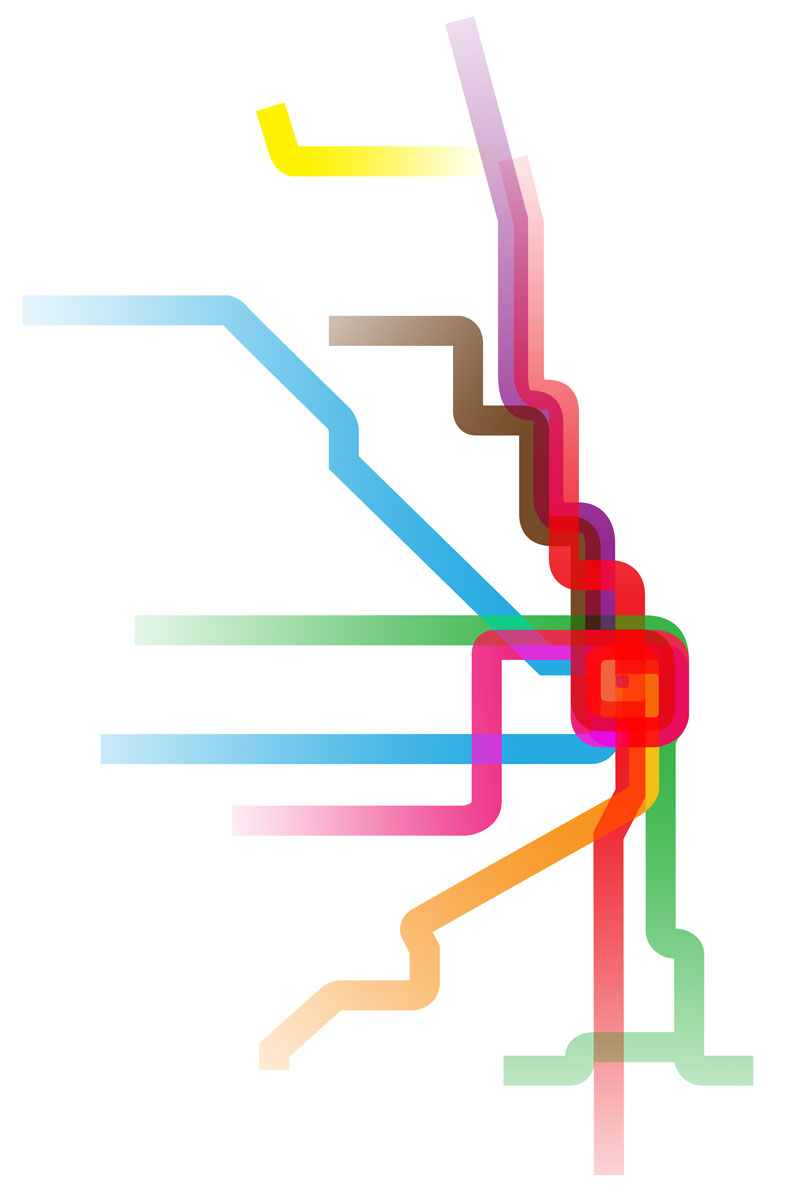 CTA Rainbow Map